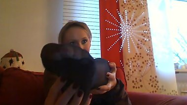 Princessweety18 Black Nylon Feet