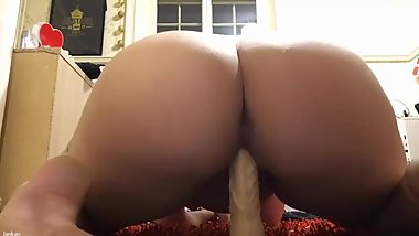 Hot chubby girl playing with dildo