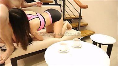 18yo Pinay Get Caught Masturbating By Step Brother Before The Gym and...