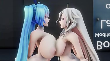 MMD SEX Gimme That Breast Expansion - Miku & IA