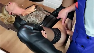 My Cheating German Girlfriend Gets Fucked by Electrician with Big Cock