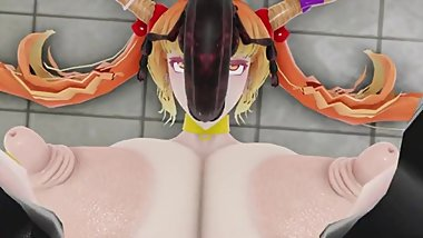 [MMD] R-18 insect sex with Suika