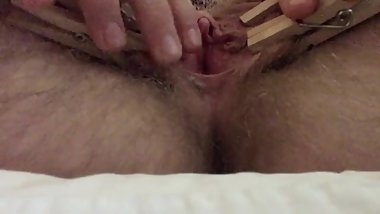 18 yr old FTM abuses horny pussy