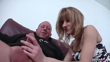 GERMAN DAD FUCKS WITH 18 yr OLD SKINNY STEP DAUGHTER AND CUM IN HER FACE