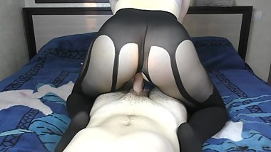 Fuck Big Ass in Nylon Ripped Pantyhose