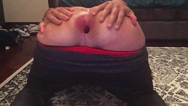 18 Year Old Gapes Huge Pink Bootyhole