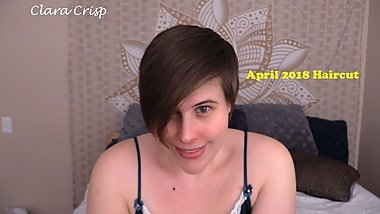 April 2018 Haircut Clara Crisp Short Hair Brunette Fetish