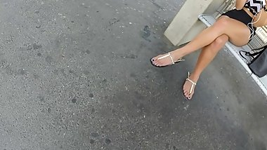 BEST 2018 SEXY TEEN MILF LEGS CROSSED TOES AMATEUR VOYEUR CANDID FEET 31