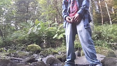 Piss in a creek ( & beginning edging session) #18