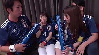 World cup 2018,Japan team's fans celebrate the first victory 4P sex