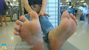 18yr old brunette sexy plaush soles