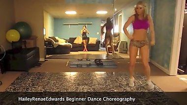 Perfect blonde teen dancing (18+)