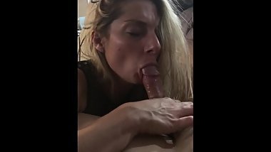 Sexy girl sucks and then rides cock